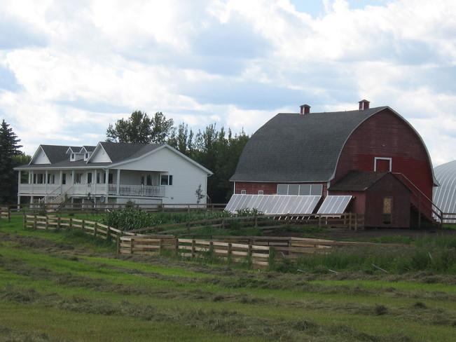 Solar powered farm Myrnam, Alberta Canada