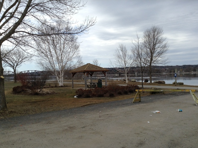 Boat Launch Drive-way Fredericton, New Brunswick Canada