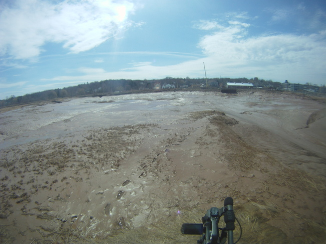 Wolfville's Mudcreek at Low Tide-Harbourtimes Wolfville, Nova Scotia Canada