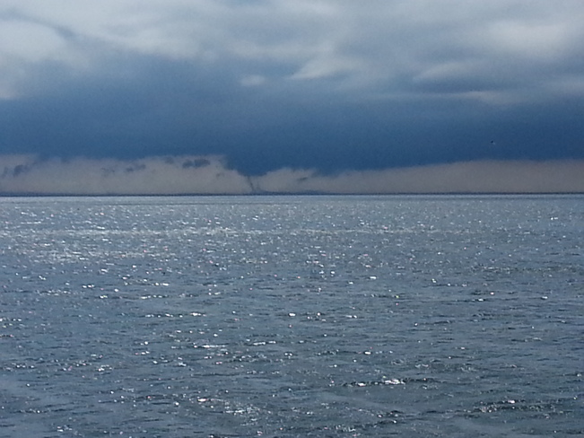 Water Spouts Developing on Lake Ontario Port Credit, Ontario Canada
