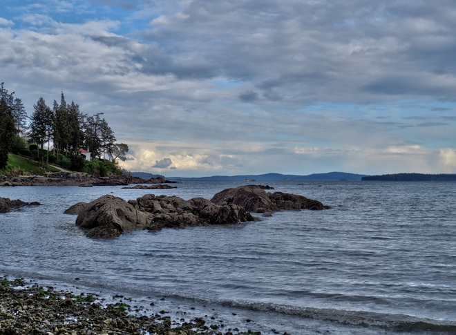 Clouds Gathering over Curteis Point Sidney, British Columbia Canada