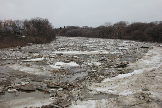 Ice Jam on the Assiniboine