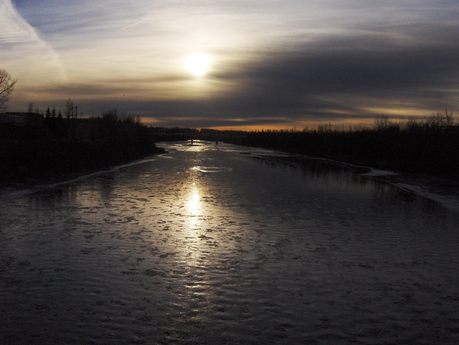 Sunset over the Red Deer River Red Deer, Alberta Canada