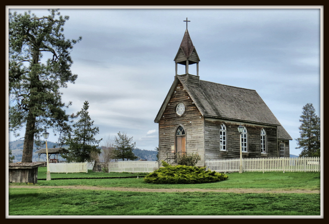 St. Anne's Church at the historic O'Keefe Ranch in Vernon, B.C. Vernon, British Columbia Canada