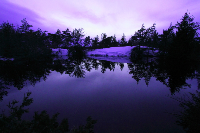 Twighlight at Singing Sands Tobermory, Ontario Canada