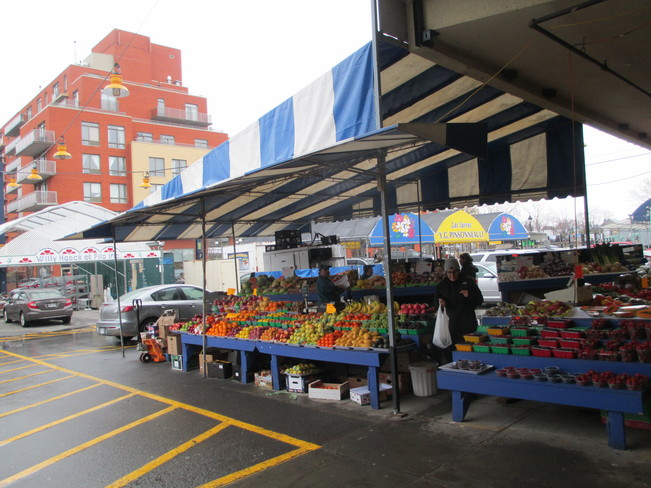 Rainy Saturday at Atwater Market Westmount, Quebec Canada