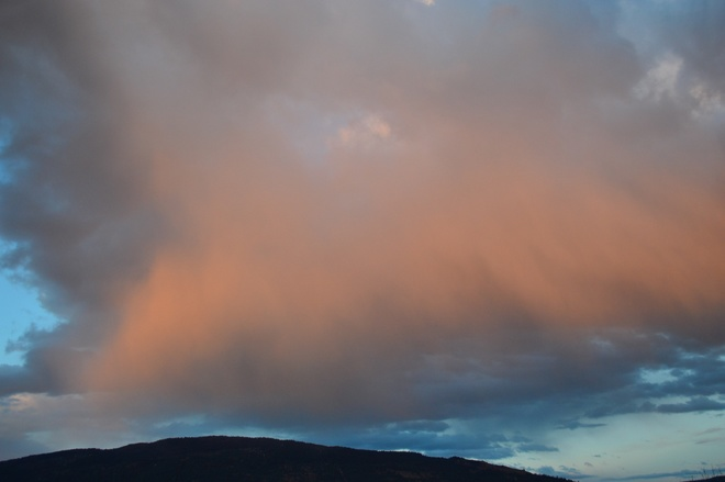 cotton candy clouds South Vernon, British Columbia Canada