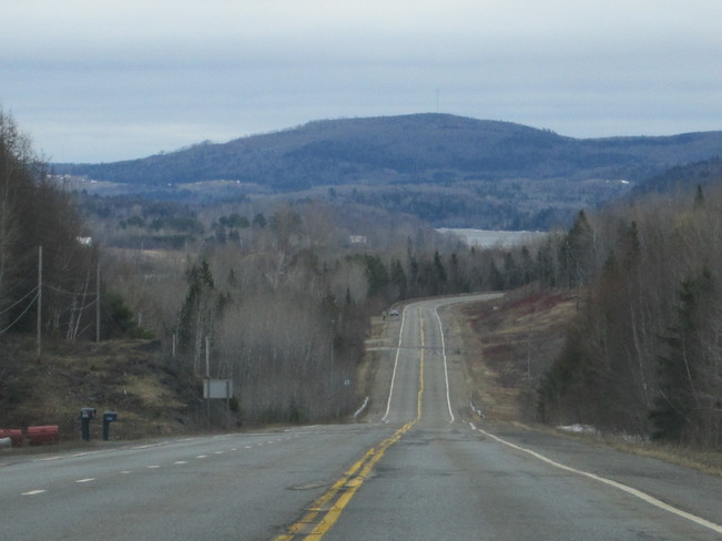 open highway Temperance Vale, New Brunswick Canada