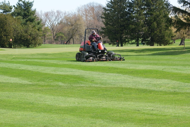The mowers are out cutting St. Davids, Ontario Canada