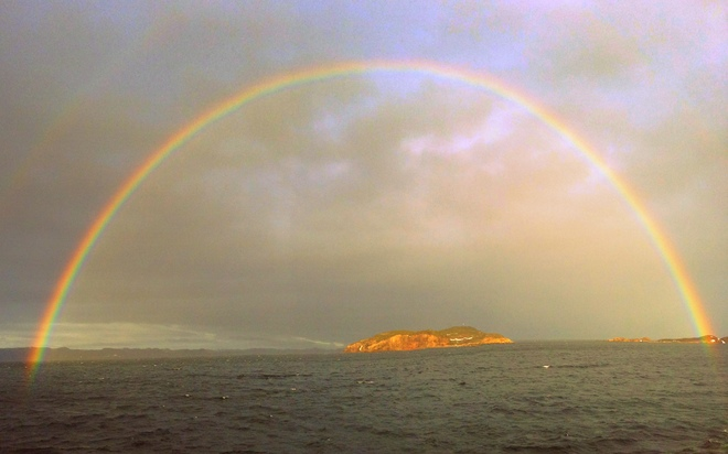 Rainbow over Boar Island Burgeo, Newfoundland and Labrador Canada