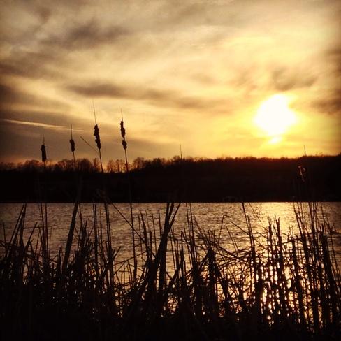 Sunset on Pigeon Lake Ennismore, Ontario Canada