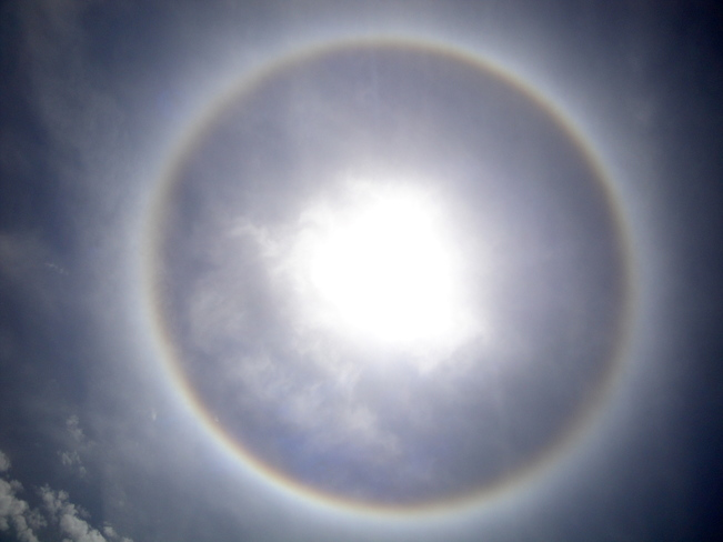 HALO AROUND SUN Kissimmee, Florida United States