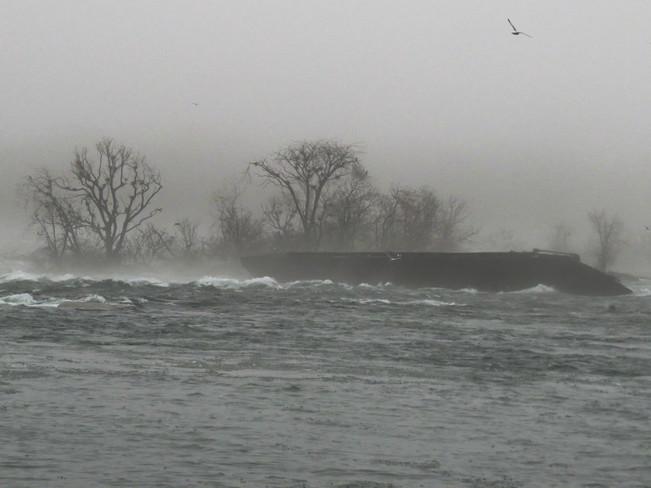 Foggy morning Niagara Falls, Ontario Canada