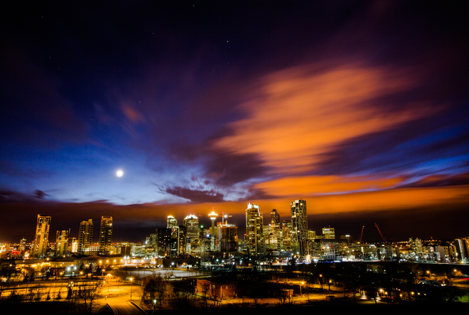 Interesting Cloud - Cold Front over Calgary Calgary, Alberta Canada