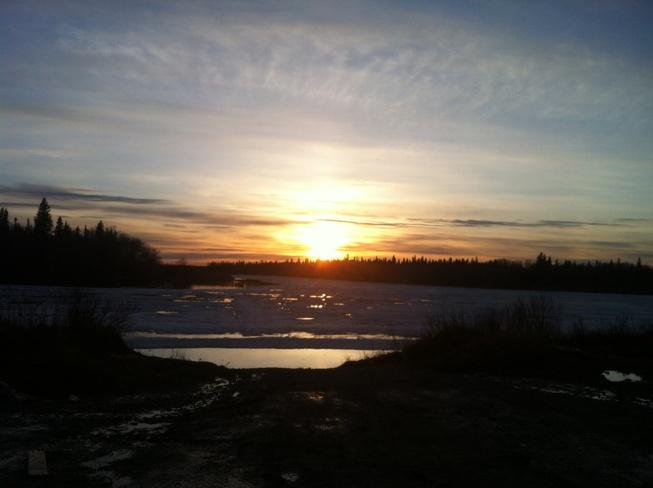 Sun Down Moose Factory, Ontario Canada