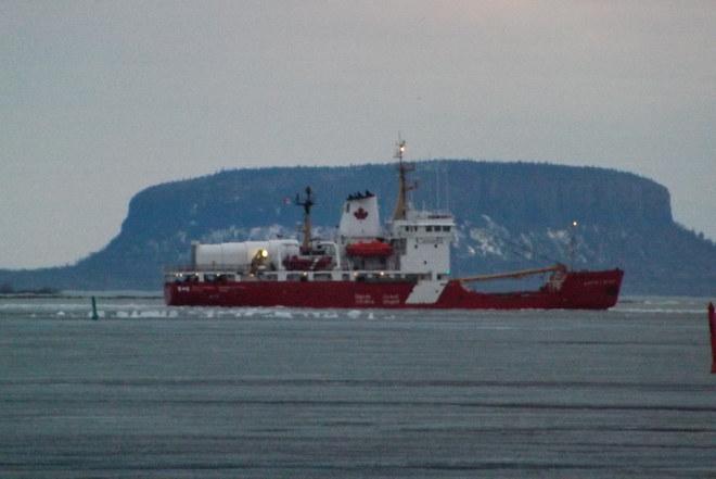 CANADIAN ICE BREAKER STILL CARVING THE ICECANADIAN ICE BREAKER STILL CARVING THE Thunder Bay, Ontario Canada