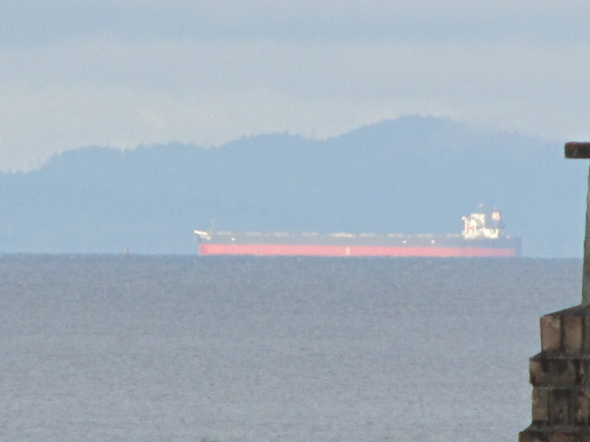 tanker in the bay Surrey, British Columbia Canada
