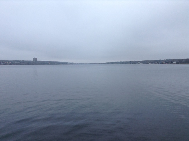 Calm Cloudy Day Sydney, Nova Scotia Canada