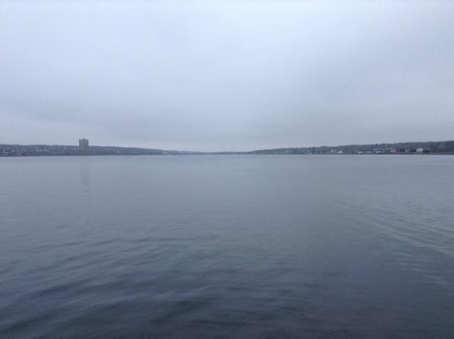 Calm Cloudy Day Sydney, Nova Scotia Canada