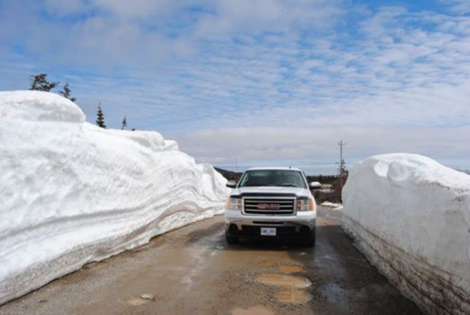 Still lots of Snow Channel-Port aux Basques, Newfoundland and Labrador Canada
