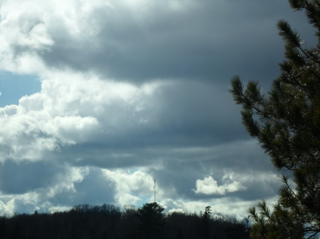 Storm Cloud forming over E.L. Elliot Lake, Ontario Canada