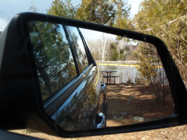 Mirror View/Trees/Water in E.L. Elliot Lake, Ontario Canada