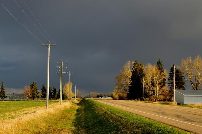 Thunderstorm brewing Lethbridge, Alberta Canada