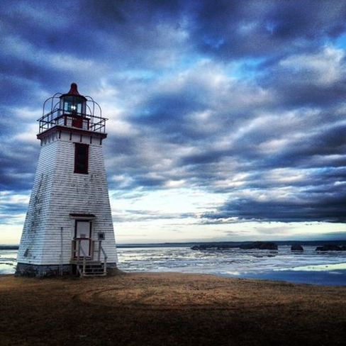 Lighthouse and Sunset in Dalhousie NB Moncton, New Brunswick Canada