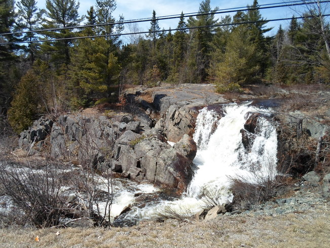 Small Falls/outside Town of E.L Elliot Lake, Ontario Canada