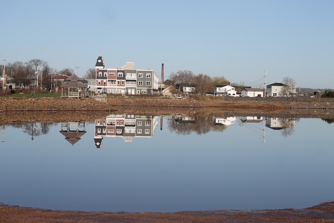 Wolfville has a Glass Look today Wolfville, Nova Scotia Canada