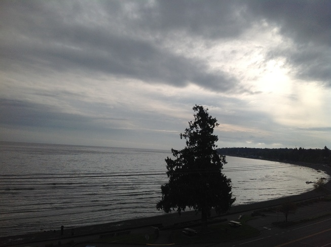 View from Casa Grande motel Qualicum Beach, British Columbia Canada