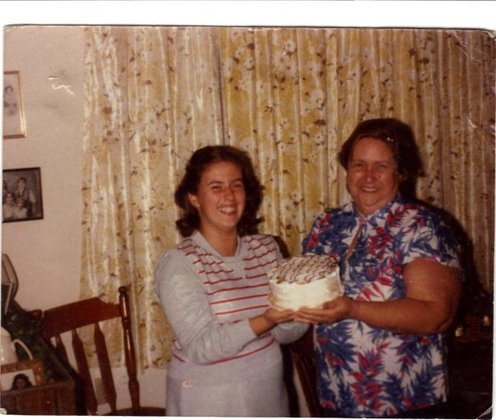 my mom and me when i was 14