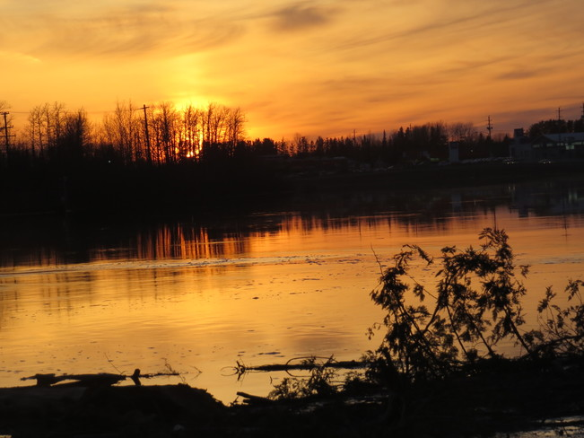 A bright sunset Timmins, Ontario Canada