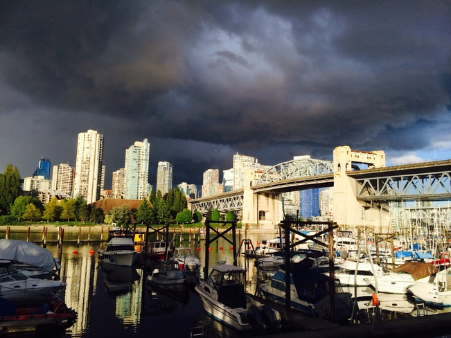Beautiful view from Granville Island Vancouver, British Columbia Canada