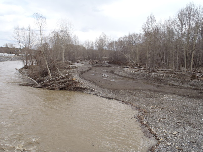 Flood Way High River, Alberta Canada