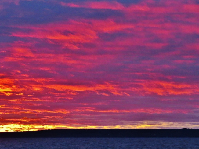 A little 'fire' in this evening's sky. North Bay, Ontario Canada