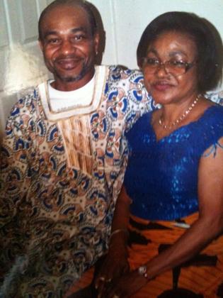 victor and his mom Josephine Ashiedu