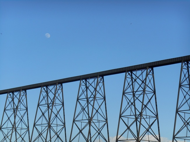 The Moon and the Bridge Lethbridge, Alberta Canada