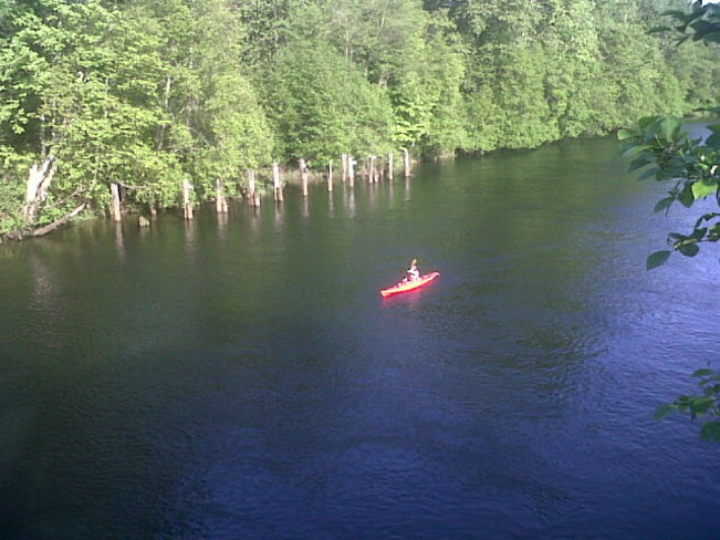 Kayaking on Courtenay River. Comox Valley, British Columbia Canada