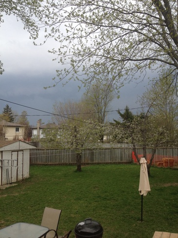 Mean Clouds Coming In Tottenham, Ontario Canada