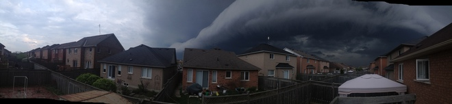 Bad weather rolling in Brampton, ON
