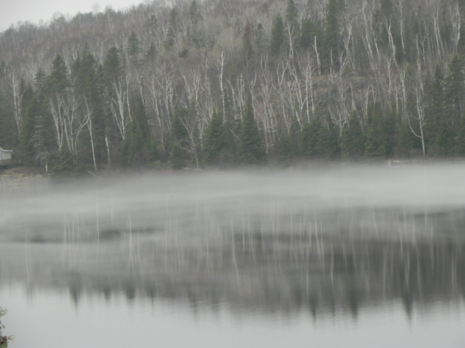 Mist on the river Riverview Rd, Wahnapitae, ON