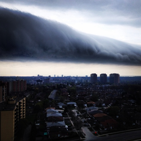 Balcony View of Incoming Storm Mississauga, Ontario Canada