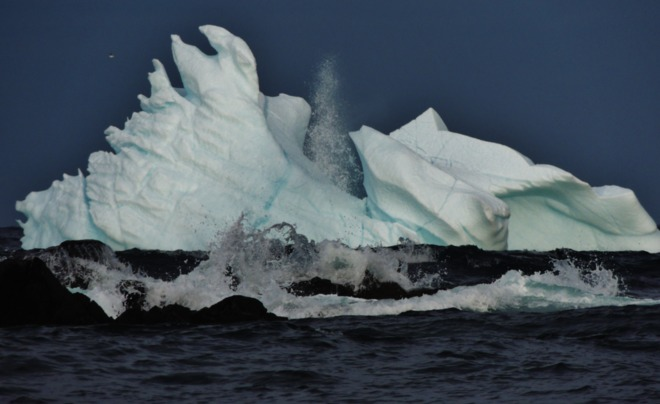 "Iceberg getting ""waved at"" ! St. John's, Newfoundland and Labrador Canada"