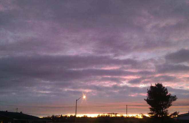 A Pretty Sunset to End a Cold, Rainy and Cloudy Day Sault Ste. Marie, Ontario Canada