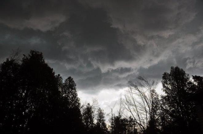Storm clouds rolling in Erin, Ontario Canada
