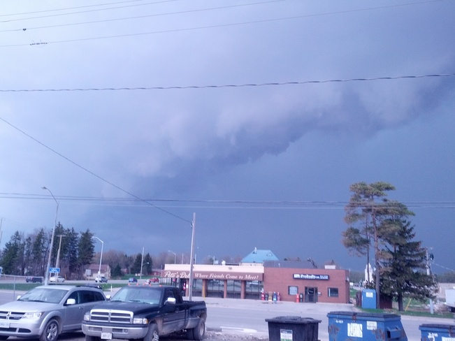 as the storm rolled in Shelburne, Ontario Canada