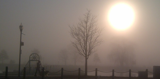 Sunrise on Foggy Day in Barrie Barrie, Ontario Canada