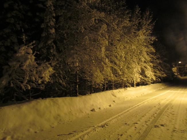 snow Kirkland Lake, Ontario Canada
