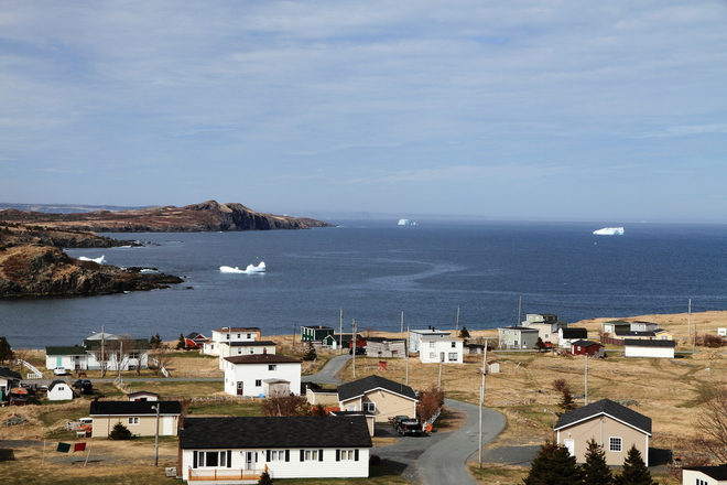 Bergs in the bay Small Point-Broad Cove-Blackhead-Adams Cove, Newfoundland and Labrador Canada